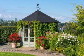 Backyard Flower Garden With Gazebo 7