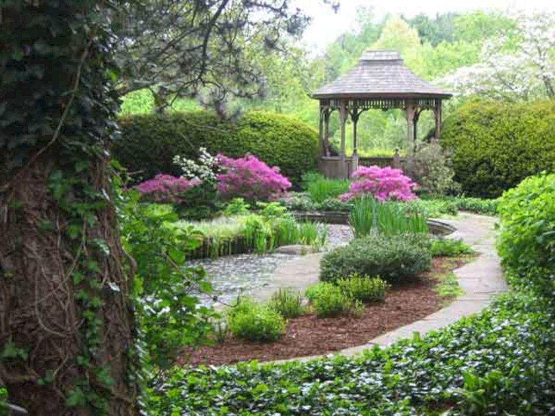 Backyard Flower Garden With Gazebo 9