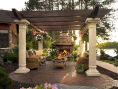 Backyard Living Space Design 15
