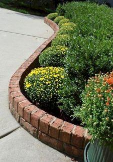 Brick Flower Bed Ideas 23