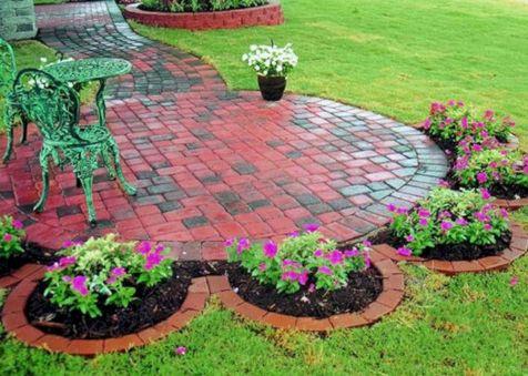 Brick Flower Bed Ideas 6