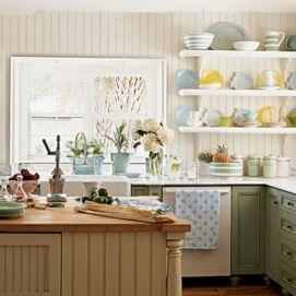 Coastal Farmhouse Kitchen Design 1