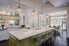 Coastal Farmhouse Kitchen Design 11