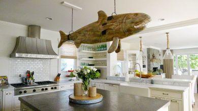 Coastal Farmhouse Kitchen Design 27