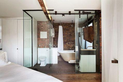 Industrial Small Bathroom Design 11