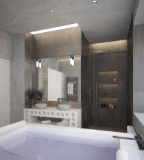 Industrial Small Bathroom Design 15