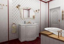 Modern Vintage Bathroom Design 19