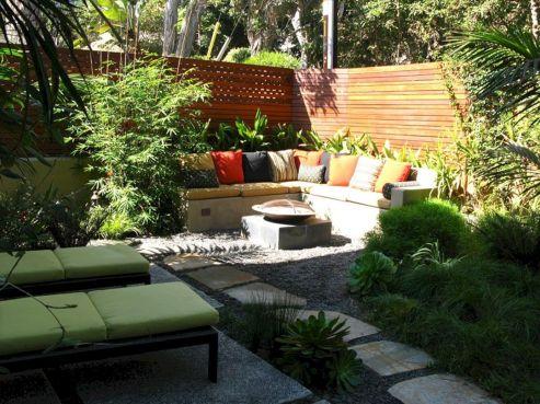 Backyard Garden Ideas With Seating Area 7