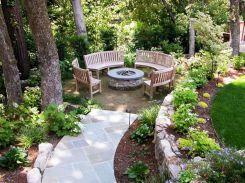 Backyard Garden Ideas With Seating Area 8