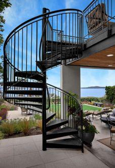 Exterior Spiral Staircase Ideas 13