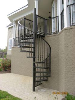 Exterior Spiral Staircase Ideas 20