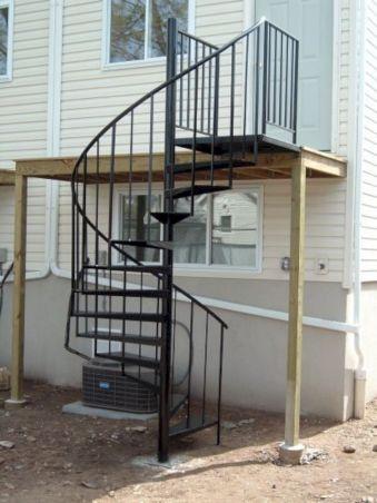 Exterior Spiral Staircase Ideas 21