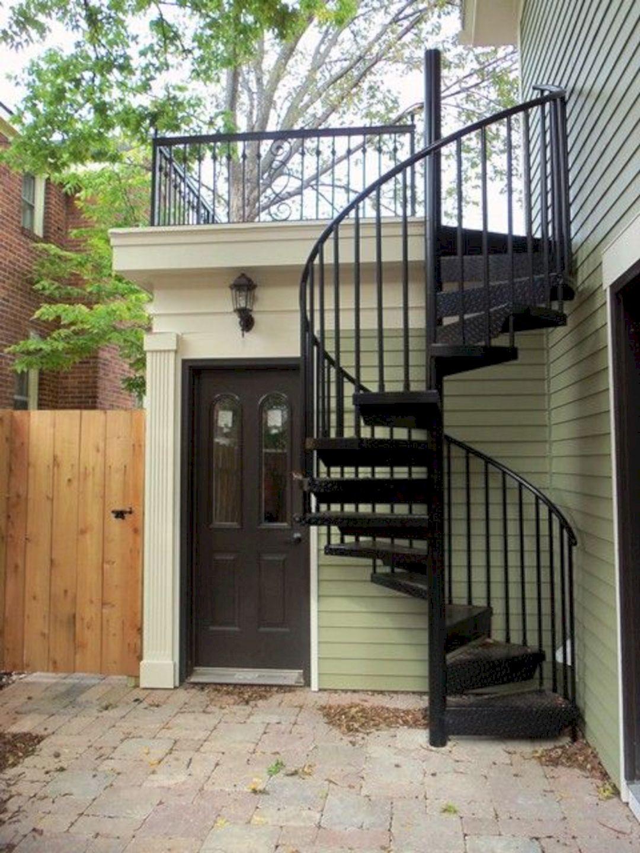 Exterior Spiral Staircase Ideas 27