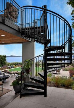 Exterior Spiral Staircase Ideas 7