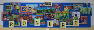 """Rogers Family"" at Rogers Elementary School, Frisco, approx. 25 x 10'"