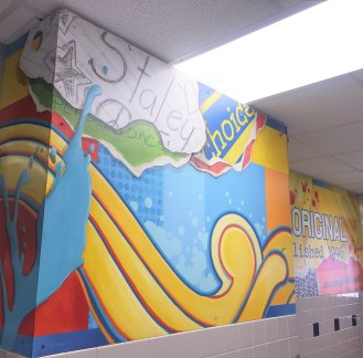 Detail of Staley Middle School Mural (The Original)