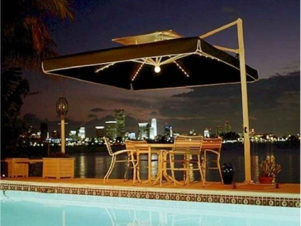 45 Patio Umbrella Ideas   Sun Shade Sail Designs for Backyard Solar Lights Patio