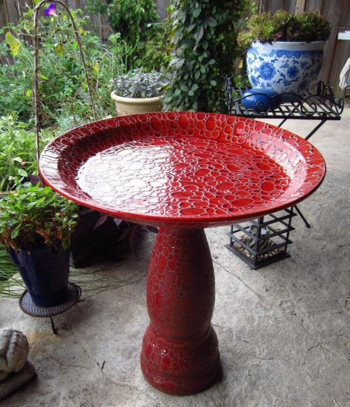 Talavera Bird Bath