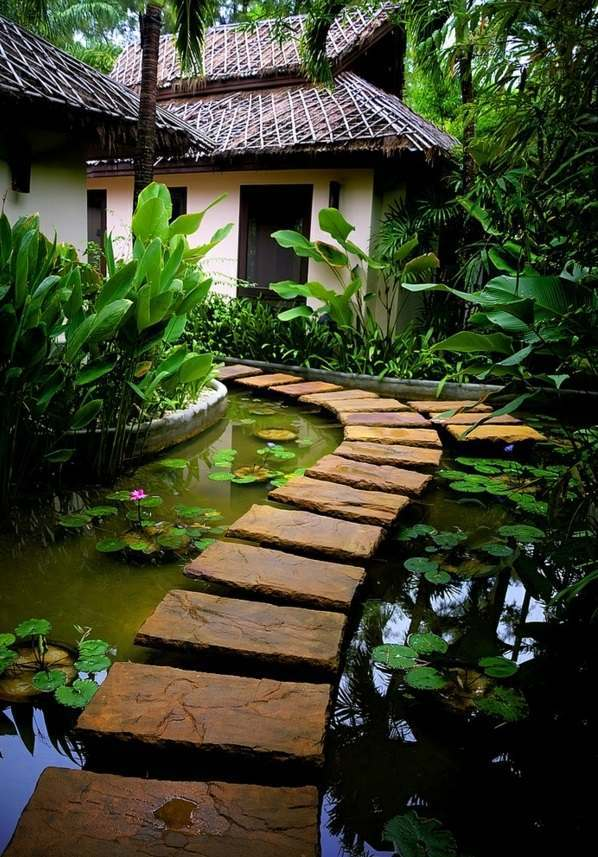 Water Garden and Koi Pond Designs for the Backyard and Patio on Backyard Koi Pond Designs  id=93250