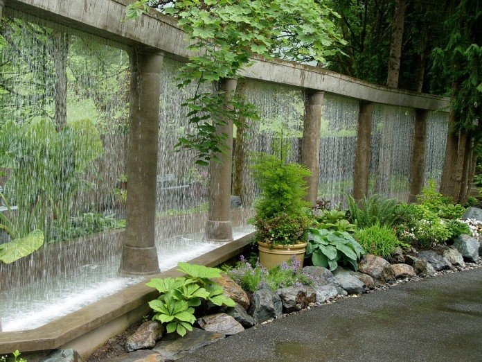 54 Garden Water Features: Awesome Outdoor Design Ideas on Backyard Feature Walls  id=23591
