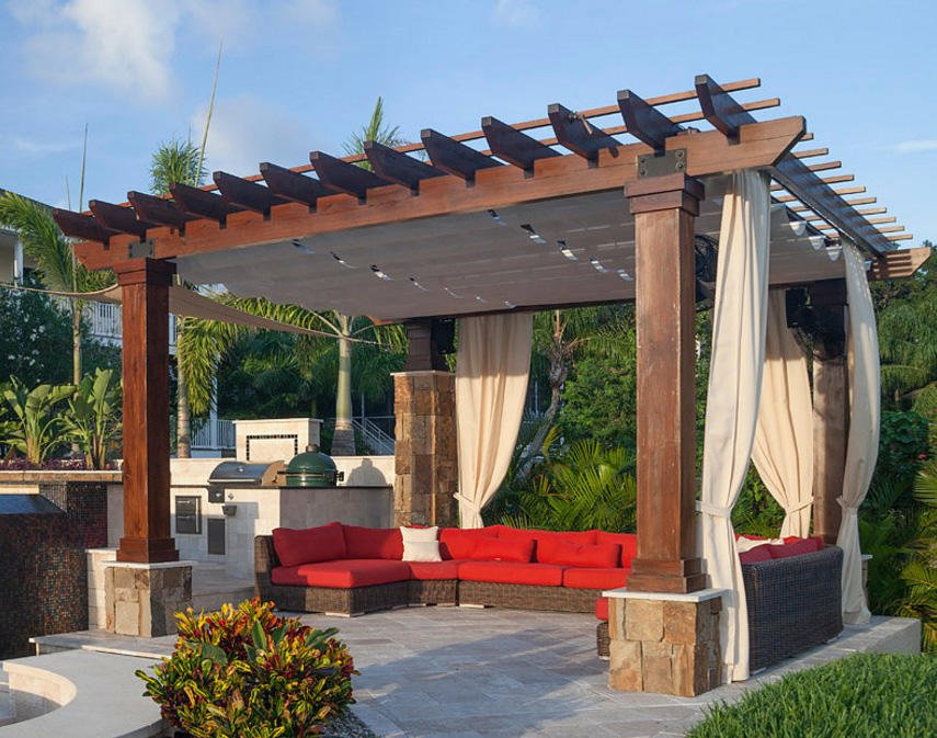 covered pergola designs for best shade