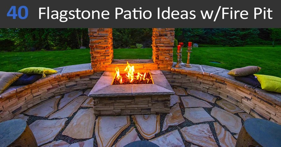 40 best flagstone patio ideas with fire