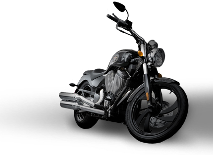Victory Motorcycle in the Harley Shadow