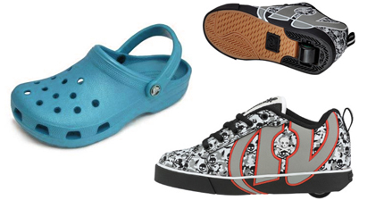 Crocs and Heelys Shoes