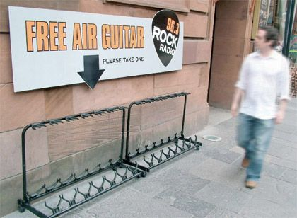 Air Guitar Radio Station Street Marketing