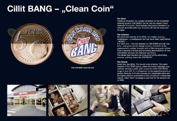 Cillit Bang Coins Marketing
