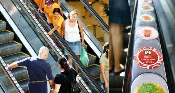 Sushi Rolls Escalator Guerrilla Marketing