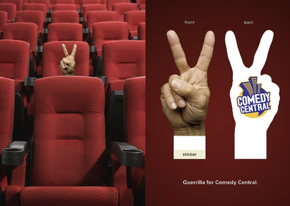 Guerilla Marketing Movie Theater Ads Comedy Central