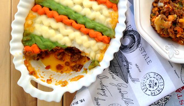 Tricolor Paleo Shepherd's Pie - GrokGrub.com