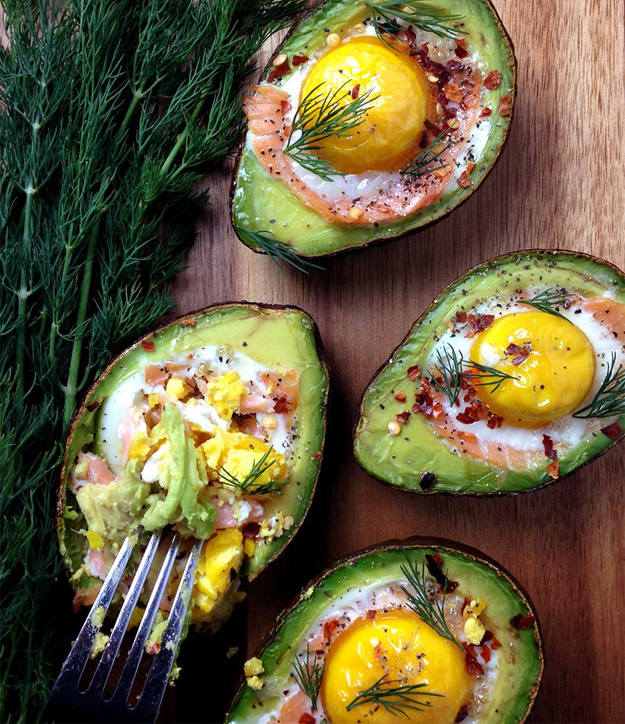 Smoked Salmon Egg Stuffed Avocado  Fresh Planet Flavor