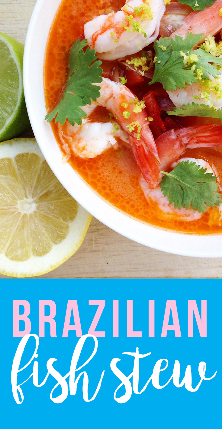 This Brazilian Fish Stew is a combo of flavors (citrus, tomato, and coconut milk) that makes something that tastes rich yet clean.