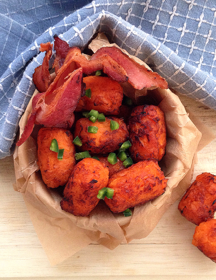 Sweet Potato Tater Tots from the Frugal Paleo Cookbook | Fresh Planet Flavor
