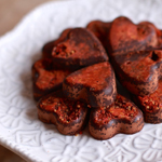 Goji Berry Chocolate Bites - 100 Paleo Valentine's Day Recipes (breakfast, drinks, appetizers, entrées and desserts!) | GrokGrub.comGoji Berry Chocolate Bites - 100 Paleo Valentine's Day Recipes (breakfast, drinks, appetizers, entrées and desserts!) | GrokGrub.com