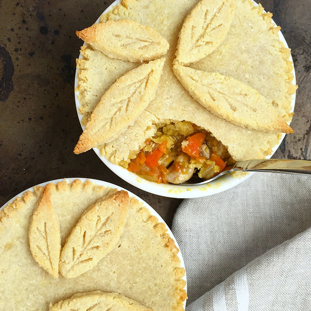Paleo Pot Pie for Two (grain free, dairy free, low carb) | GrokGrub.com