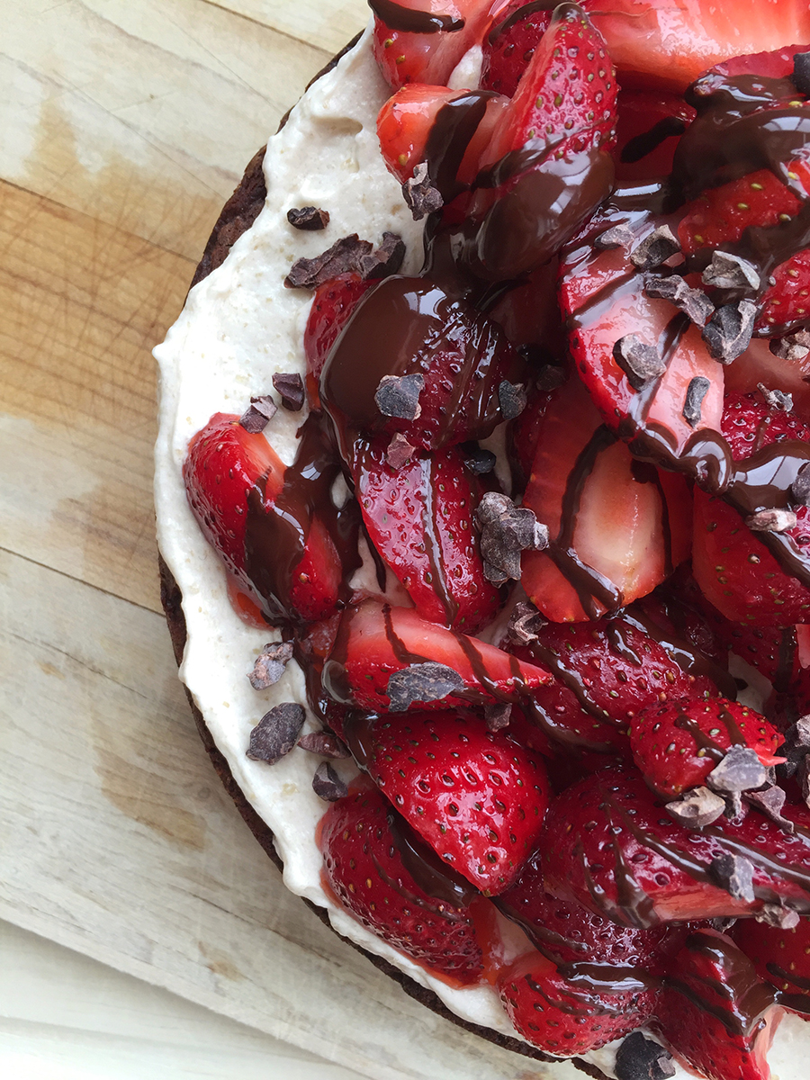 Easy Chocolate Strawberry Cake | Fresh Planet Flavor