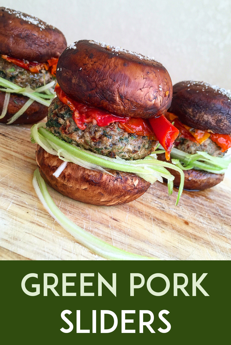 Green Pork Sliders (grain-free, dairy-free, paleo) | GrokGrub.com #grainfree #healthy #paleo #lunch