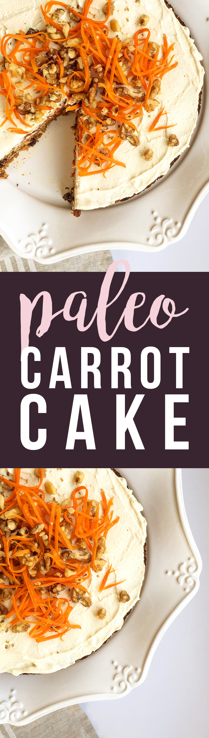 This Paleo Carrot Cake is grain-free, dairy-free, fruit-sweetened... healthy and tasty. :) Fresh Planet Flavor