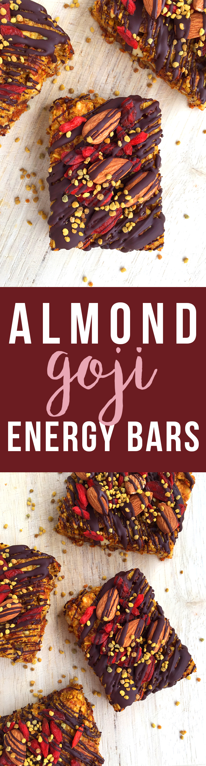 These grain-free Almond Goji Energy Bars are made of just nuts, fruit, coconut, eggs and love! (Drizzle with unsweetened chocolate if desired) | Fresh Planet Flavor data-recalc-dims=