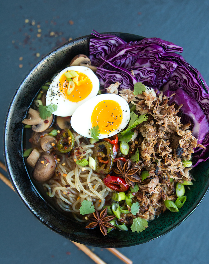Slow-Cooker Spiced Pork Ramen (with shirataki noodles) | Fresh Planet Flavor