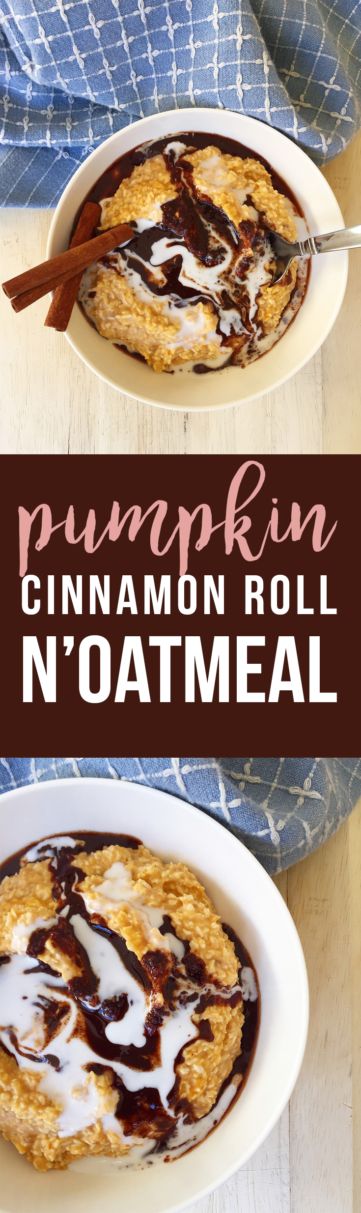 This easy Pumpkin Cinnamon Roll N'Oatmeal makes a delicious holiday alternative to oatmeal for breakfast, snack, or treat. (grain/gluten free, dairy free, paleo, vegan) | Fresh Planet Flavor