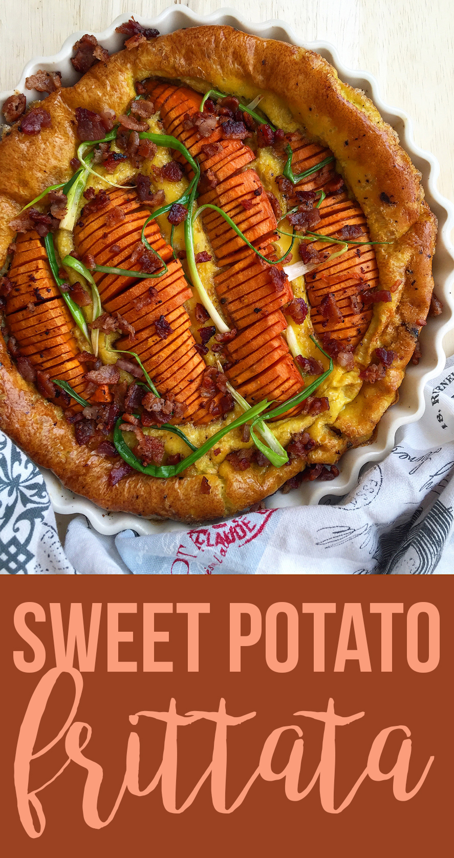 This sweet potato frittata is an easy rendition of the wonderful breakfast combination of sweet potatoes, eggs and bacon (grain-free, dairy-free, paleo)   Fresh Planet Flavor