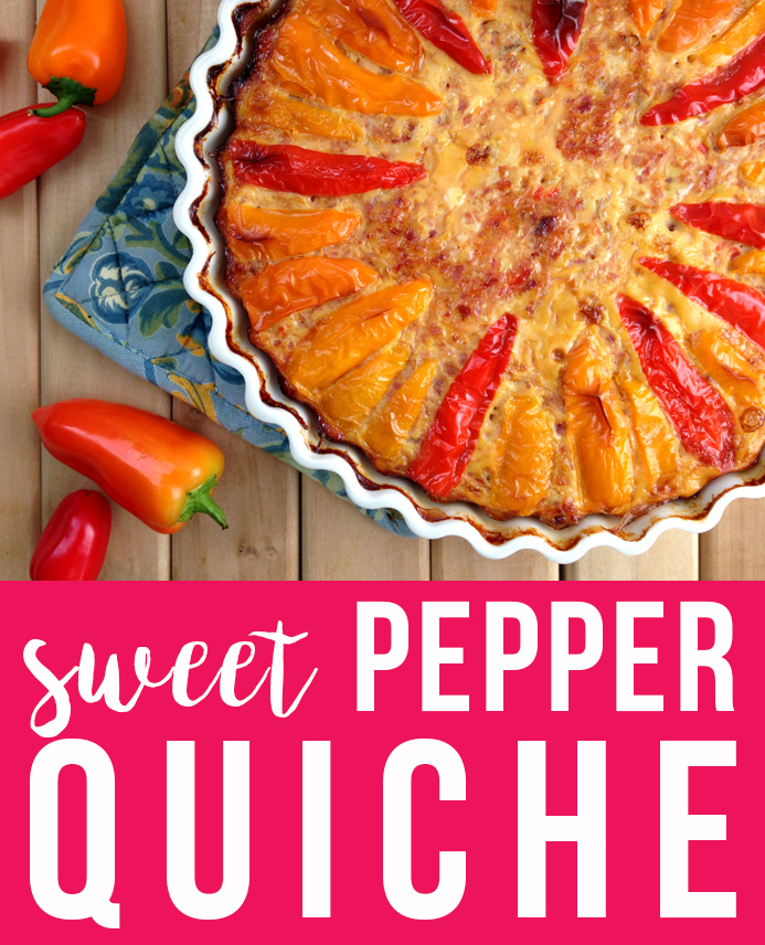 Sweet Pepper Quiche, nom!
