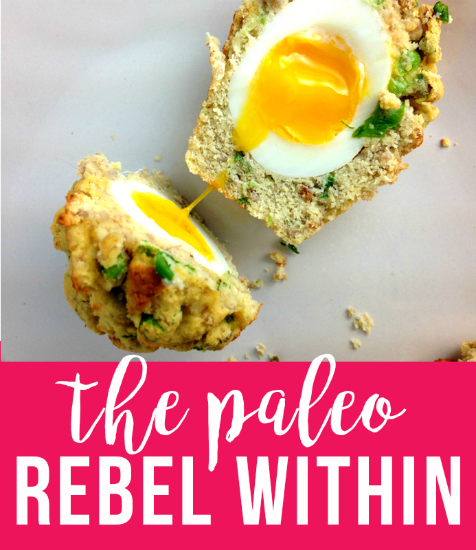 The Paleo Rebel Within - soft boiled egg inside a muffin!