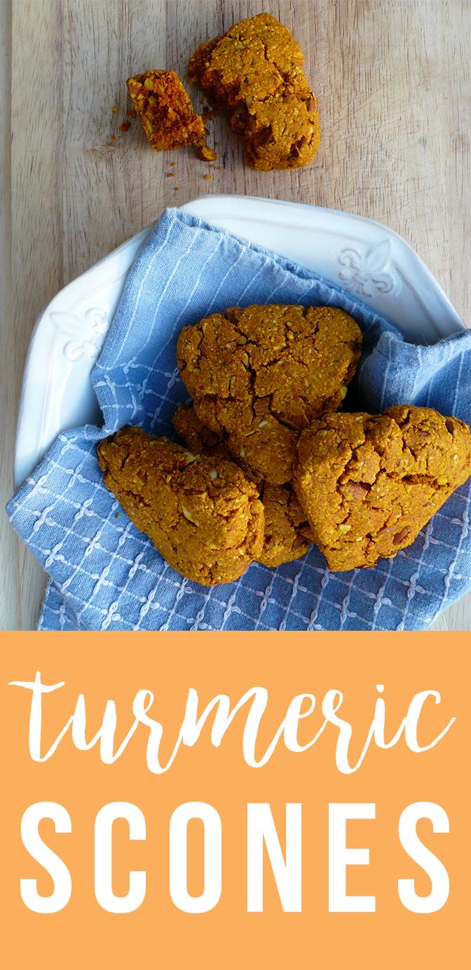 Turmeric Scones! Grain-free, dairy-free, anti-inflammatory.