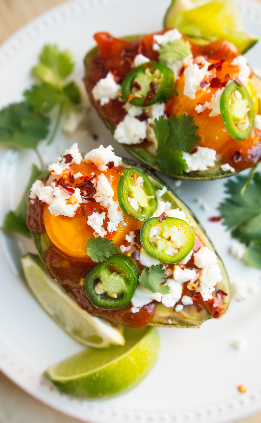 Egg-Stuffed Avocado Olé makes a very special south-of-the-border breakfast or snack.