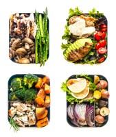Lunch Chicken Meal-Prep 4 Ways